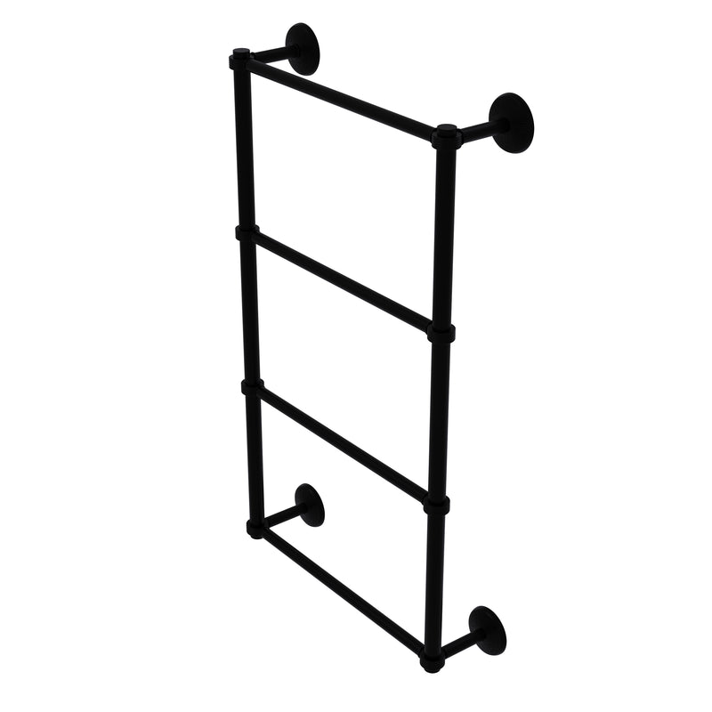 Allied Brass Monte Carlo Collection 4 Tier 24 Inch Ladder Towel Bar with Groovy Detail MC-28G-24-BKM