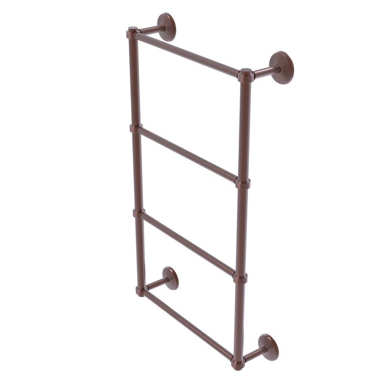 Allied Brass Monte Carlo Collection 4 Tier 24 Inch Ladder Towel Bar with Groovy Detail MC-28G-24-CA