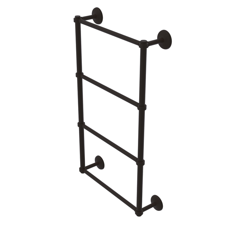 Allied Brass Monte Carlo Collection 4 Tier 24 Inch Ladder Towel Bar with Groovy Detail MC-28G-24-ORB