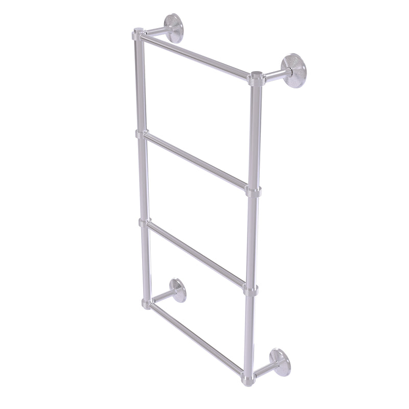 Allied Brass Monte Carlo Collection 4 Tier 30 Inch Ladder Towel Bar with Groovy Detail MC-28G-30-SCH