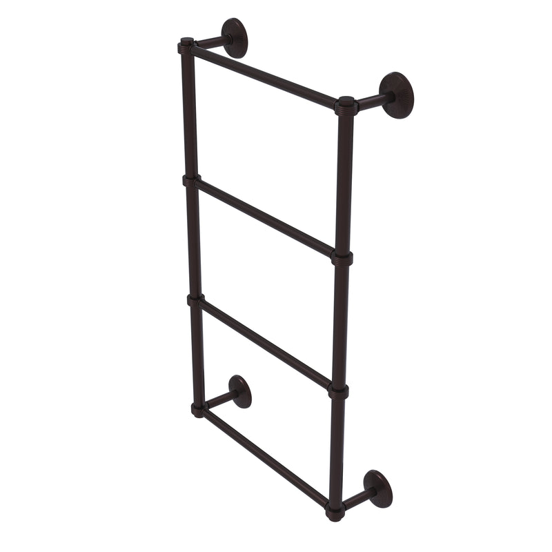 Allied Brass Monte Carlo Collection 4 Tier 36 Inch Ladder Towel Bar with Groovy Detail MC-28G-36-ABZ