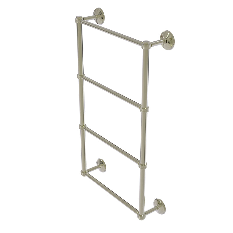 Allied Brass Monte Carlo Collection 4 Tier 36 Inch Ladder Towel Bar with Groovy Detail MC-28G-36-PNI