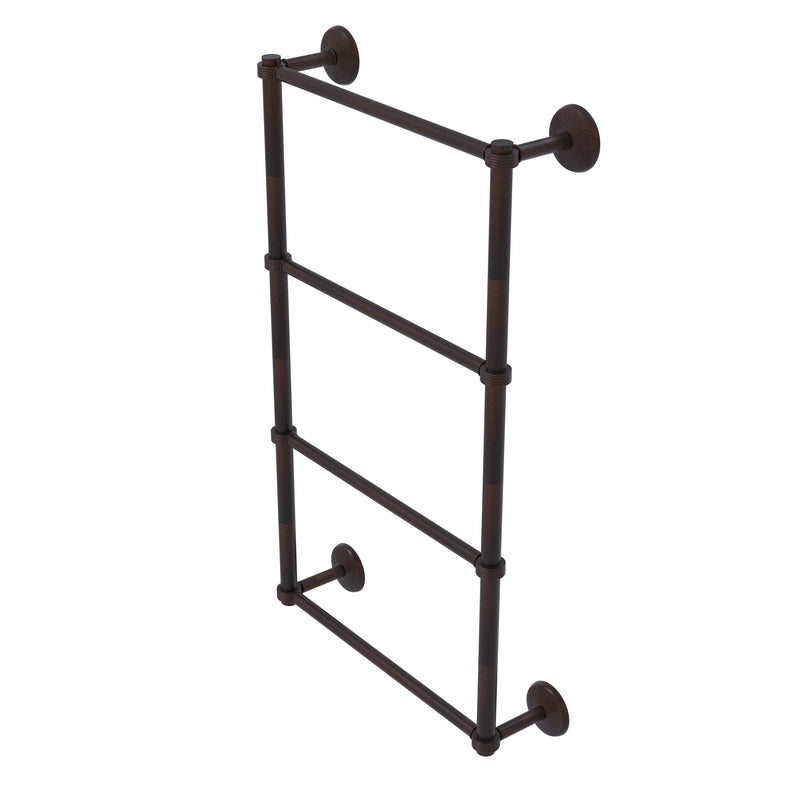 Allied Brass Monte Carlo Collection 4 Tier 36 Inch Ladder Towel Bar with Groovy Detail MC-28G-36-VB
