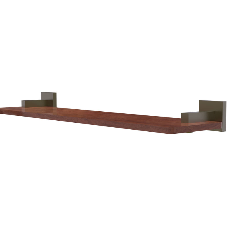 Allied Brass Montero Collection 22 Inch Solid IPE Ironwood Shelf MT-1-22-IRW-ABR