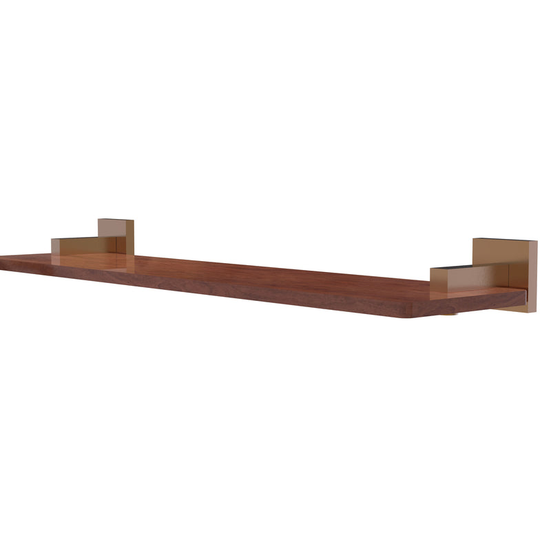 Allied Brass Montero Collection 22 Inch Solid IPE Ironwood Shelf MT-1-22-IRW-BBR