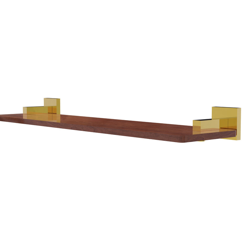 Allied Brass Montero Collection 22 Inch Solid IPE Ironwood Shelf MT-1-22-IRW-PB