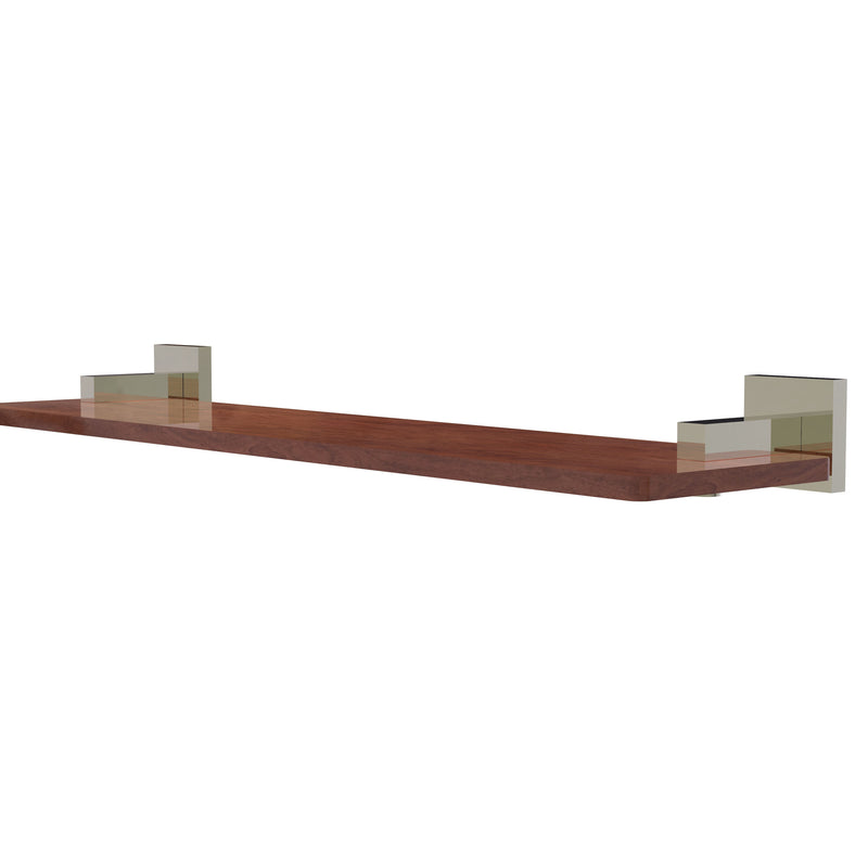 Allied Brass Montero Collection 22 Inch Solid IPE Ironwood Shelf MT-1-22-IRW-PNI