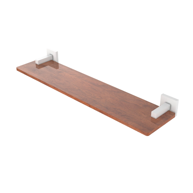 Allied Brass Montero Collection 22 Inch Solid IPE Ironwood Shelf MT-1-22-IRW-WHM