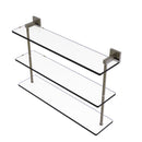 Allied Brass Montero Collection 22 Inch Triple Tiered Glass Shelf MT-5-22-ABR