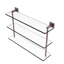 Allied Brass Montero Collection 22 Inch Triple Tiered Glass Shelf MT-5-22-CA