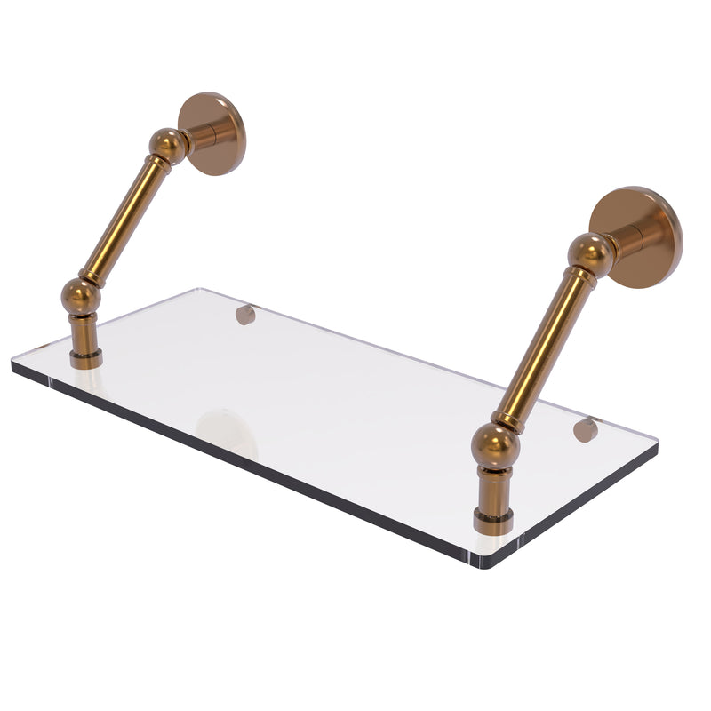 Allied Brass Prestige Skyline Collection 18 Inch Floating Glass Shelf P1000-1-18-BBR