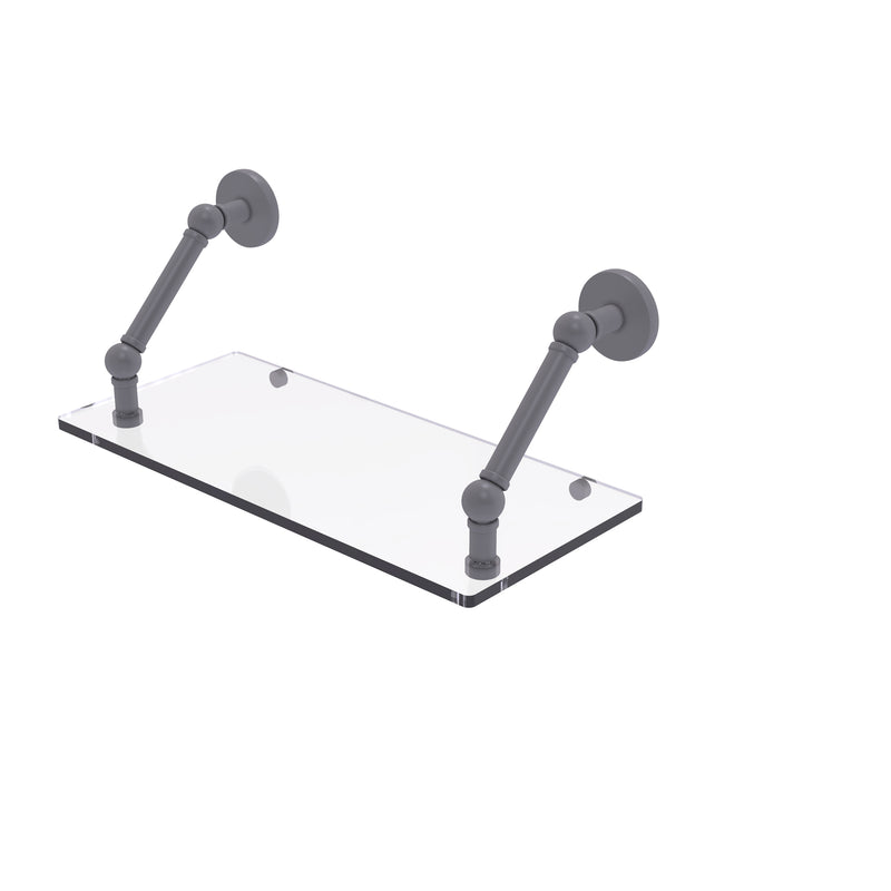Allied Brass Prestige Skyline Collection 18 Inch Floating Glass Shelf P1000-1-18-GYM