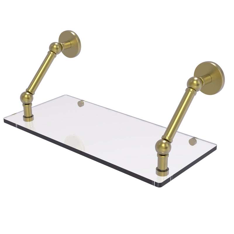 Allied Brass Prestige Skyline Collection 18 Inch Floating Glass Shelf P1000-1-18-SBR