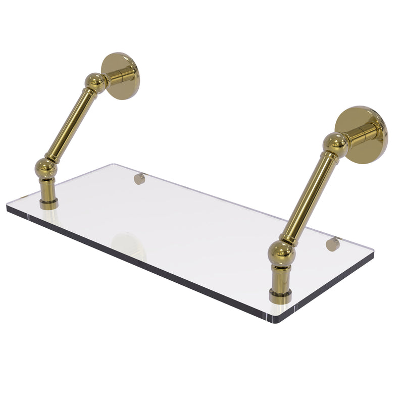Allied Brass Prestige Skyline Collection 18 Inch Floating Glass Shelf P1000-1-18-UNL
