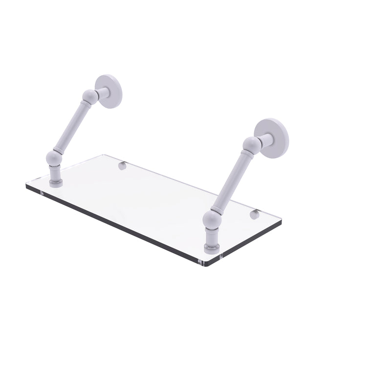 Allied Brass Prestige Skyline Collection 18 Inch Floating Glass Shelf P1000-1-18-WHM