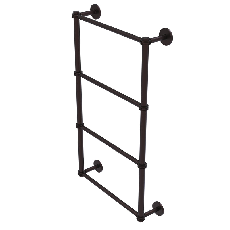 Allied Brass Prestige Skyline Collection 4 Tier 36 Inch Ladder Towel Bar with Dotted Detail P1000-28D-36-ABZ
