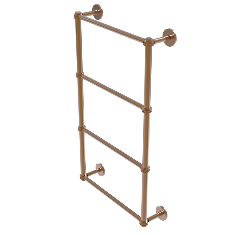 Allied Brass Prestige Skyline Collection 4 Tier 36 Inch Ladder Towel Bar with Dotted Detail P1000-28D-36-BBR