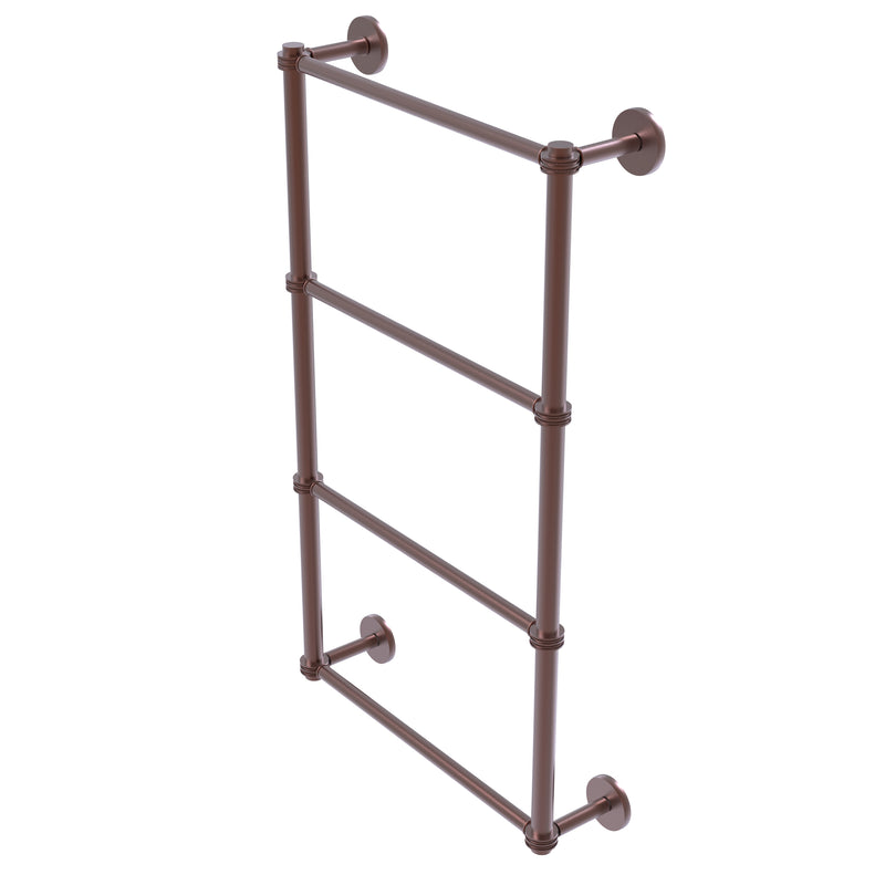 Allied Brass Prestige Skyline Collection 4 Tier 36 Inch Ladder Towel Bar with Dotted Detail P1000-28D-36-CA