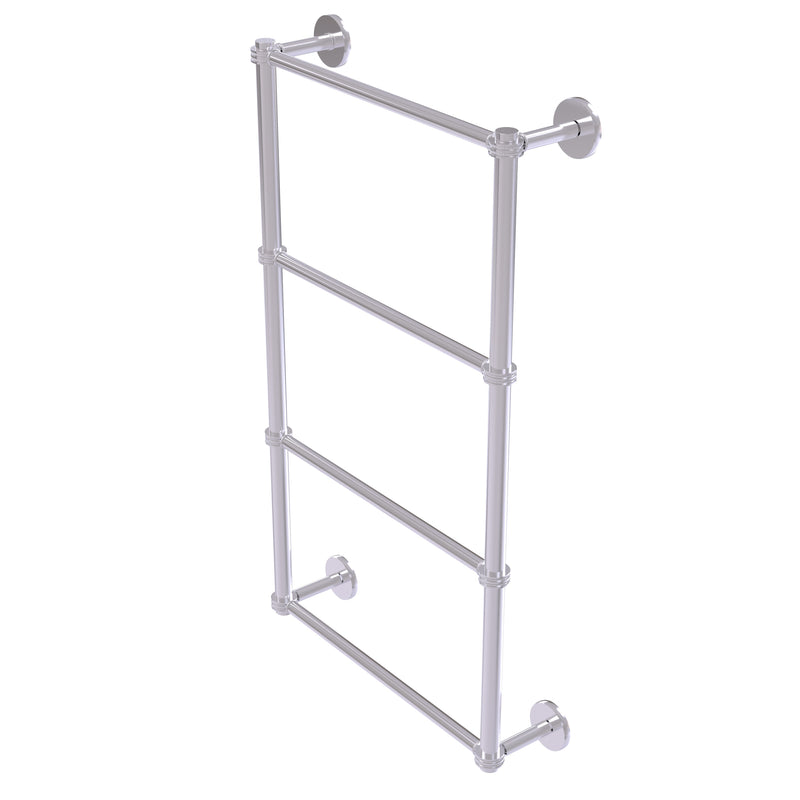 Allied Brass Prestige Skyline Collection 4 Tier 36 Inch Ladder Towel Bar with Dotted Detail P1000-28D-36-SCH