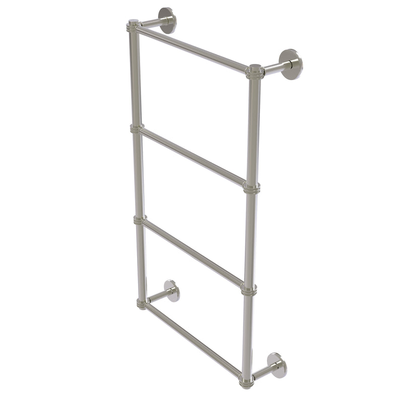 Allied Brass Prestige Skyline Collection 4 Tier 36 Inch Ladder Towel Bar with Dotted Detail P1000-28D-36-SN