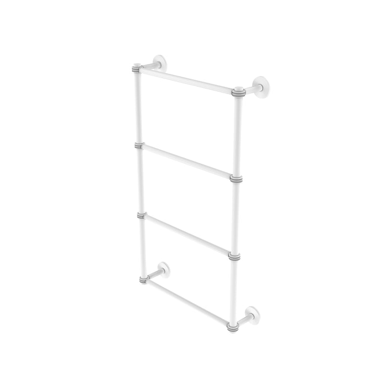 Allied Brass Prestige Skyline Collection 4 Tier 36 Inch Ladder Towel Bar with Dotted Detail P1000-28D-36-WHM