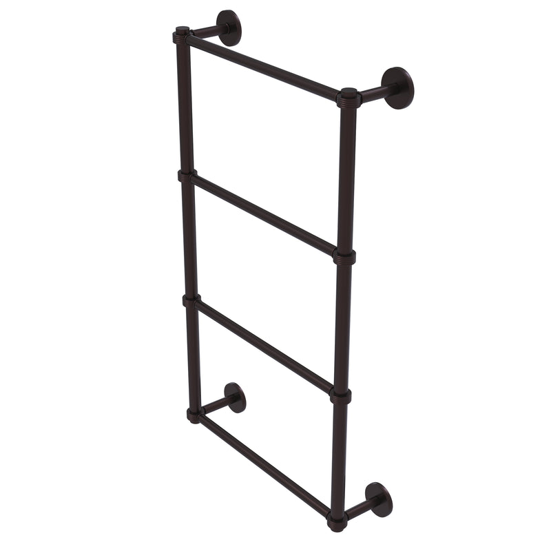 Allied Brass Prestige Skyline Collection 4 Tier 24 Inch Ladder Towel Bar with Groovy Detail P1000-28G-24-ABZ