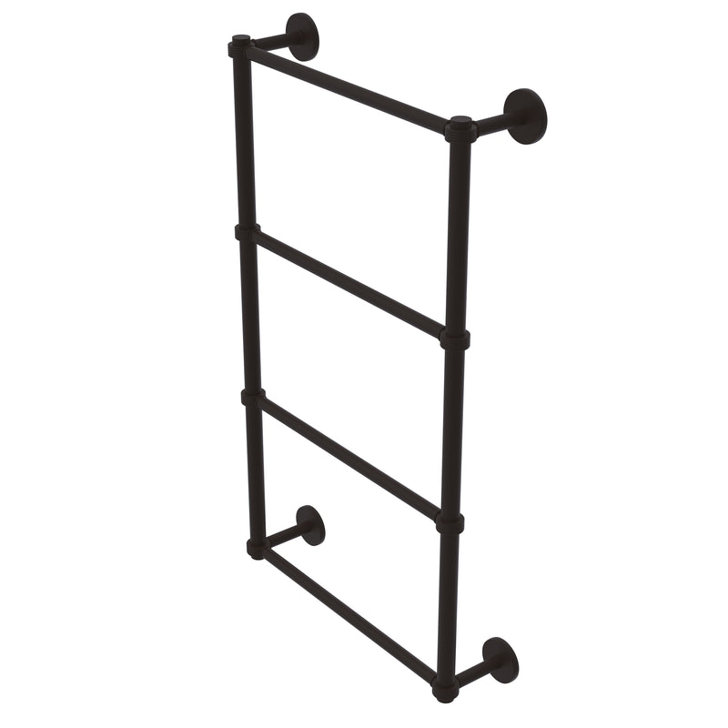 Allied Brass Prestige Skyline Collection 4 Tier 24 Inch Ladder Towel Bar with Groovy Detail P1000-28G-24-ORB