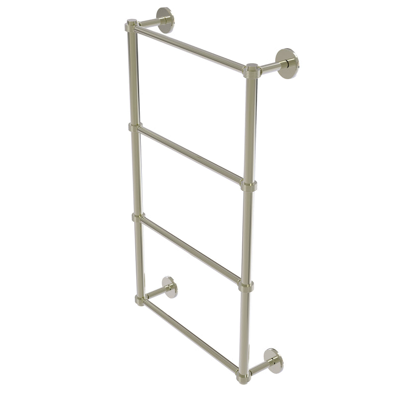 Allied Brass Prestige Skyline Collection 4 Tier 24 Inch Ladder Towel Bar with Groovy Detail P1000-28G-24-PNI