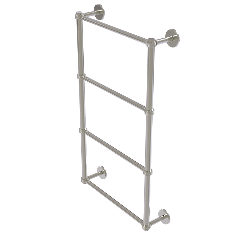 Allied Brass Prestige Skyline Collection 4 Tier 24 Inch Ladder Towel Bar with Groovy Detail P1000-28G-24-SN