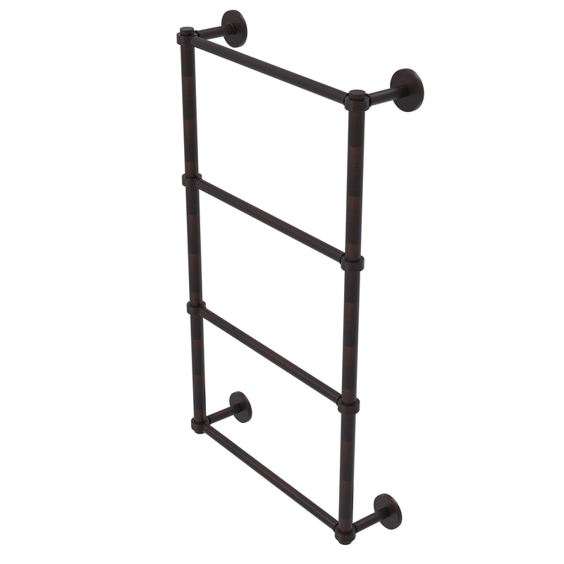 Allied Brass Prestige Skyline Collection 4 Tier 24 Inch Ladder Towel Bar with Groovy Detail P1000-28G-24-VB