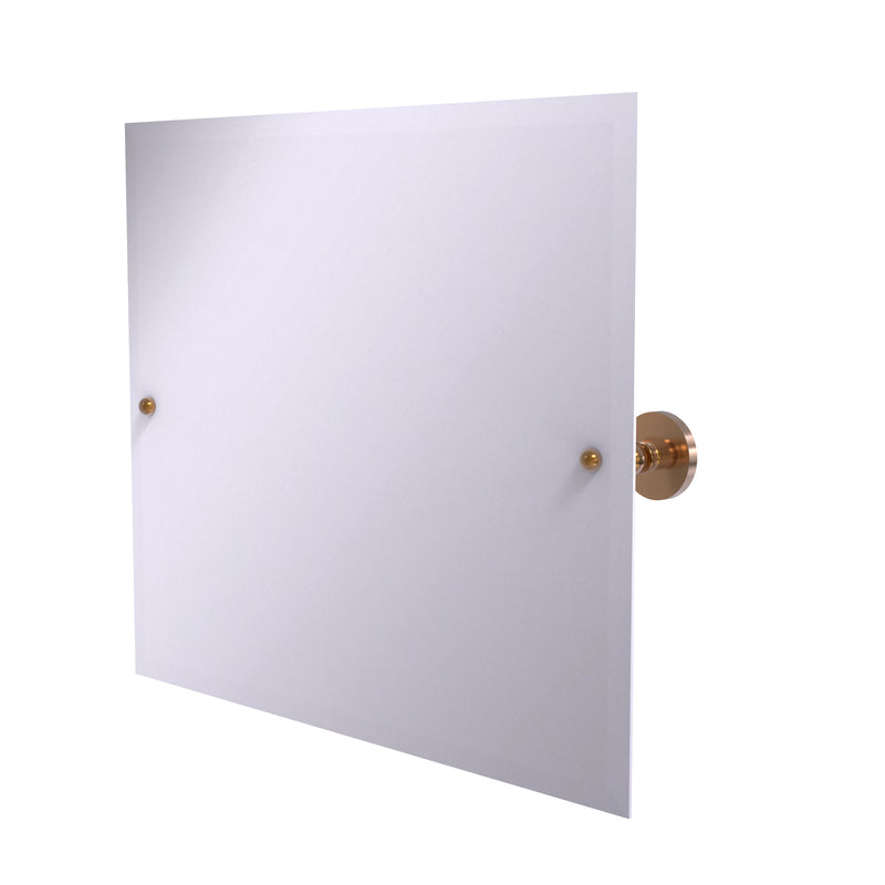 Allied Brass Frameless Landscape Rectangular Tilt Mirror with Beveled Edge P1093-BBR