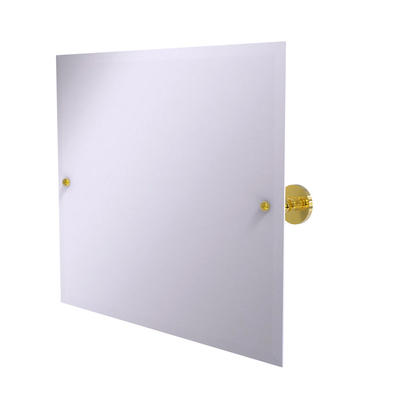 Allied Brass Frameless Landscape Rectangular Tilt Mirror with Beveled Edge P1093-PB