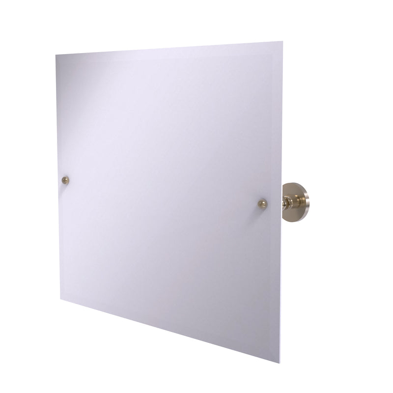Allied Brass Frameless Landscape Rectangular Tilt Mirror with Beveled Edge P1093-PEW