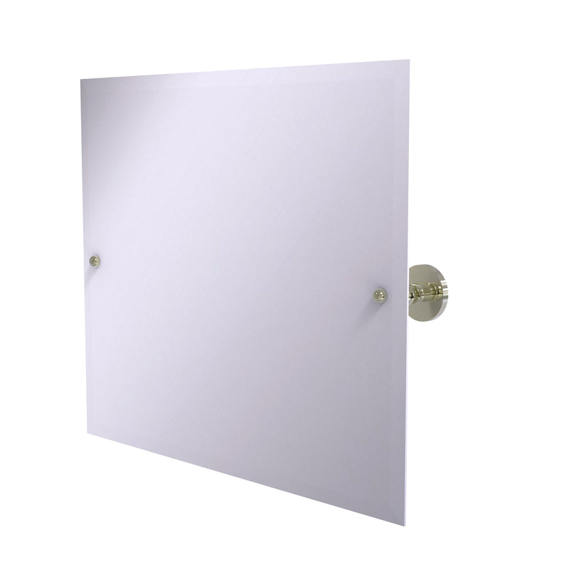 Allied Brass Frameless Landscape Rectangular Tilt Mirror with Beveled Edge P1093-PNI