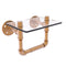 Allied Brass Pipeline Collection Toilet Tissue Holder with Glass Shelf P-130-TPGS-BBR