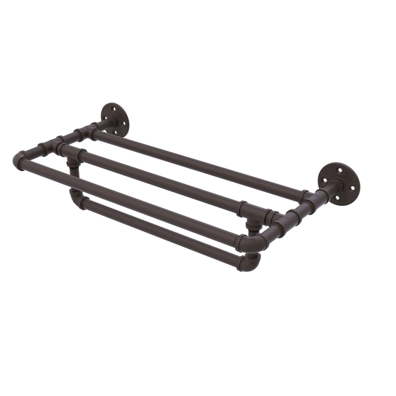 Allied Brass Pipeline Collection 24 Inch Wall Mounted Towel Shelf with Towel Bar P-240-24-TSTB-ORB