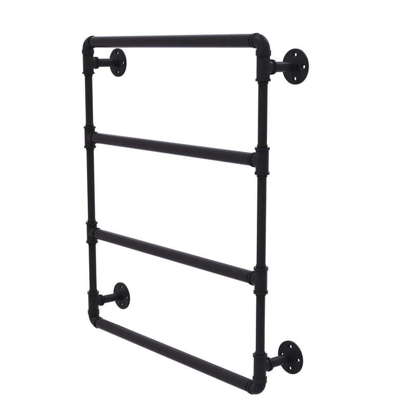 Allied Brass Pipeline Collection 24 Inch Wall Mounted Ladder Towel Bar P-280-24-LTB-BKM