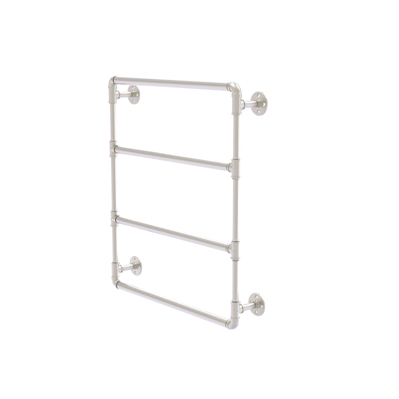 Allied Brass Pipeline Collection 24 Inch Wall Mounted Ladder Towel Bar P-280-24-LTB-SN