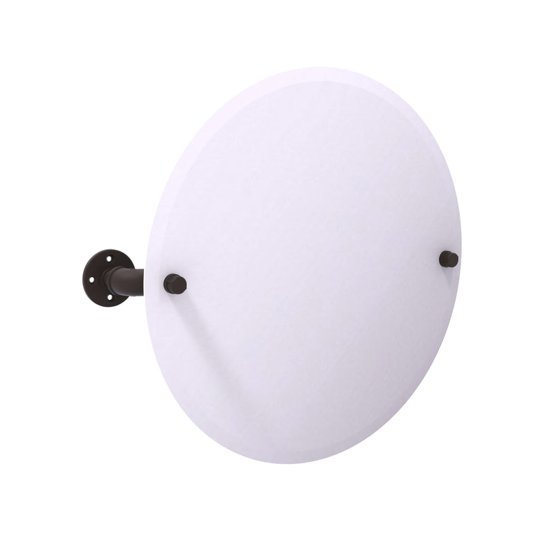 Allied Brass Pipeline Collection Frameless Round Wall Mounted Tilt Mirror P-350-TM90-ORB