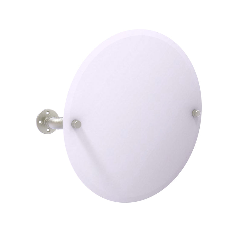 Allied Brass Pipeline Collection Frameless Round Wall Mounted Tilt Mirror P-350-TM90-SN