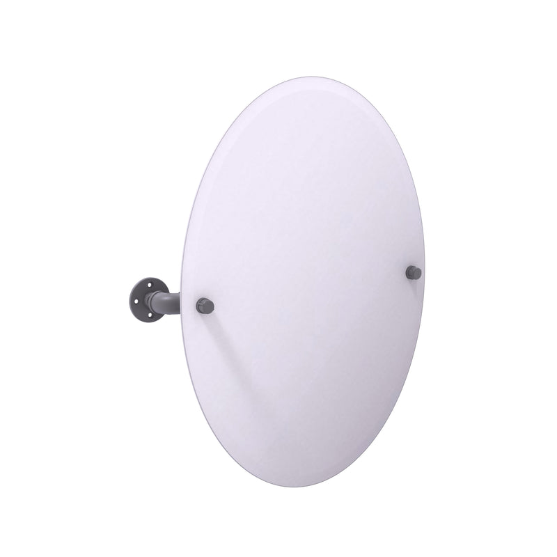 Allied Brass Pipeline Collection Frameless Oval Wall Mounted Tilt Mirror P-350-TM91-GYM