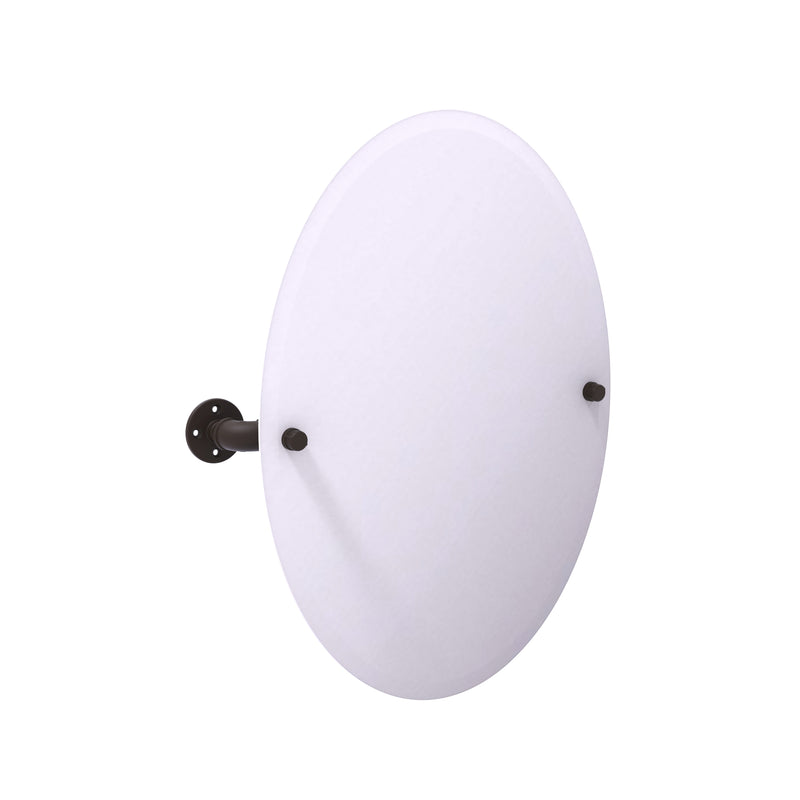 Allied Brass Pipeline Collection Frameless Oval Wall Mounted Tilt Mirror P-350-TM91-ORB