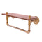 Allied Brass Pipeline Collection 16 Inch Ironwood Shelf with Towel Bar P-460-16-WSTB-BBR