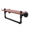Allied Brass Pipeline Collection 16 Inch Ironwood Shelf with Towel Bar P-460-16-WSTB-BKM