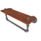 Allied Brass Pipeline Collection 16 Inch Ironwood Shelf with Towel Bar P-460-16-WSTB-GYM