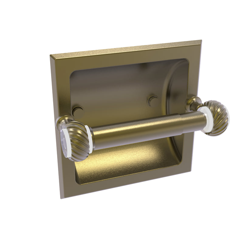 Allied Brass Pacific Grove Collection Recessed Toilet Paper Holder with Twisted Accents PG-24CT-ABR