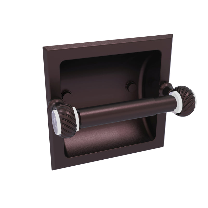Allied Brass Pacific Grove Collection Recessed Toilet Paper Holder with Twisted Accents PG-24CT-ABZ