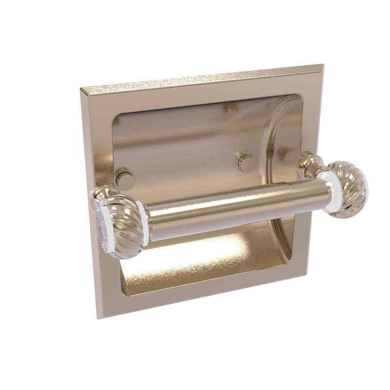 Allied Brass Pacific Grove Collection Recessed Toilet Paper Holder with Twisted Accents PG-24CT-PEW