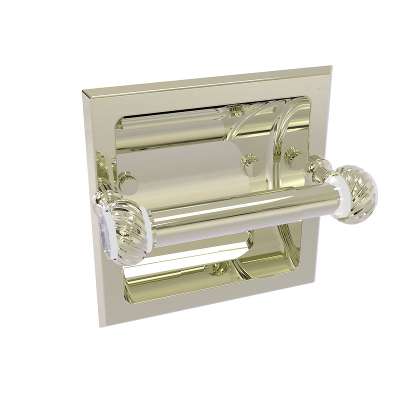 Allied Brass Pacific Grove Collection Recessed Toilet Paper Holder with Twisted Accents PG-24CT-PNI