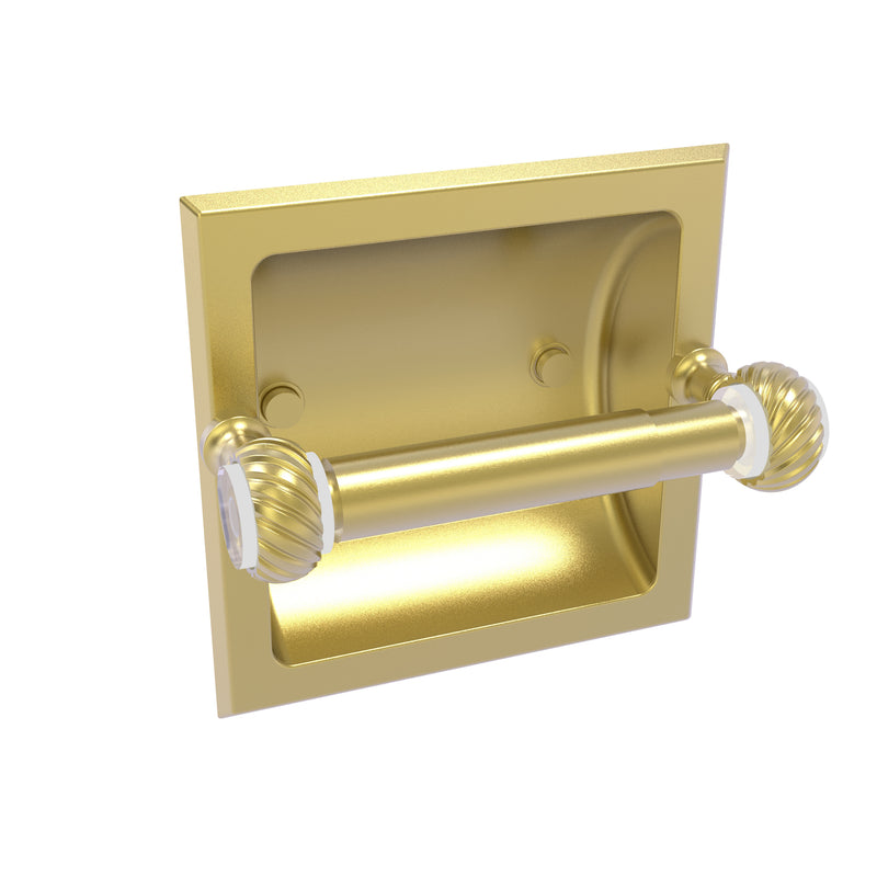 Allied Brass Pacific Grove Collection Recessed Toilet Paper Holder with Twisted Accents PG-24CT-SBR